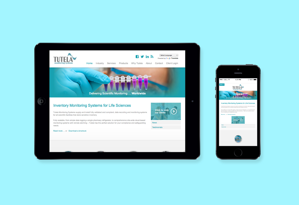 Responsive website design elements for the New Tutela Website