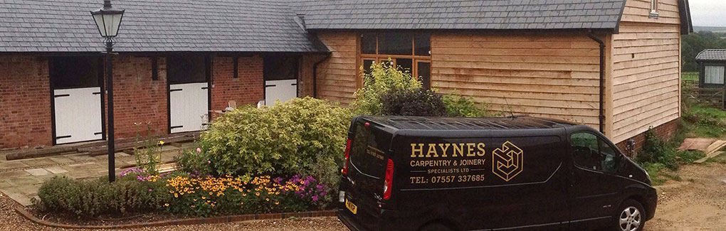 Haynes Carpentry needed a new ceative website design