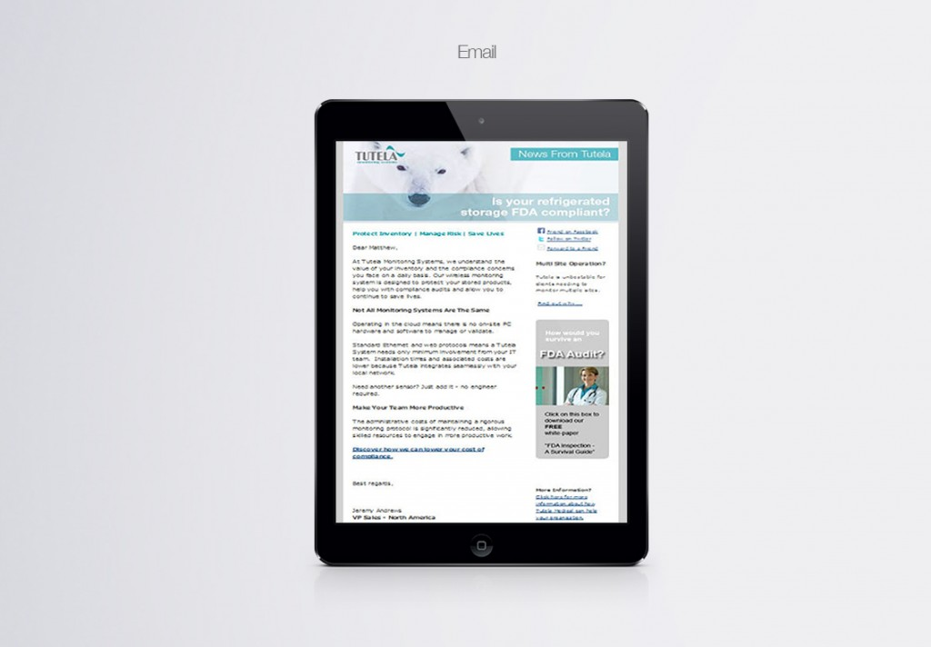 Tutela email marketing_ipad_mock up