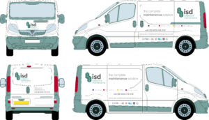 Snap Marketing graphic design van livery