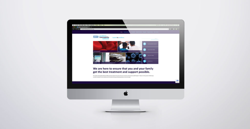 NHS Website Design for Southern Haemophilia Network